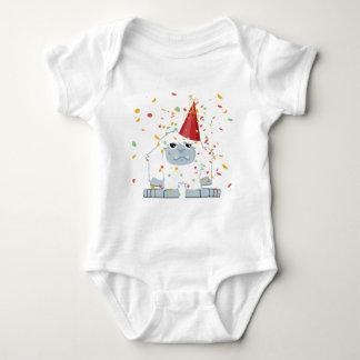 Cute Confetti Party Yeti Baby Bodysuit