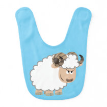 Cute Confident Cartoon Ram Baby Bib