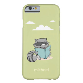 Cute congregation baby raccoon reading to book car barely there iPhone 6 case