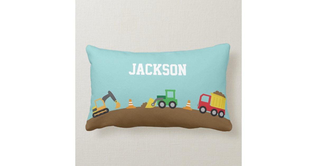 Cute Pillows For Your Room : Cute Construction Vehicles Boys Room Decor Lumbar Pillow Zazzle