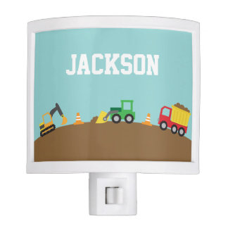 Cute Construction Vehicles Boys Room Decor Night Light