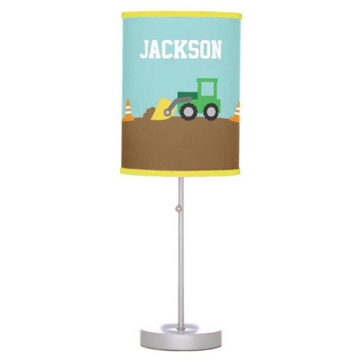 Construction Lamps For Boys : Cute construction vehicles boys room decor table lamp zazzle