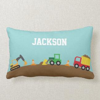 Cute Construction Vehicles Boys Room Decor Throw Pillow