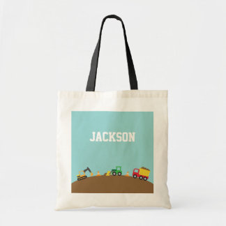 Cute Construction Vehicles For Boys Tote Bag