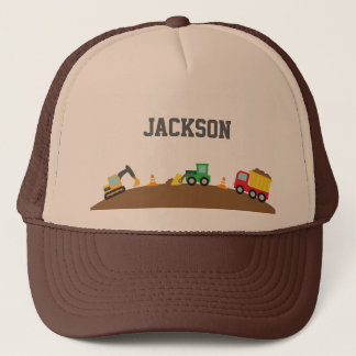 Cute Construction Vehicles For Boys Trucker Hat