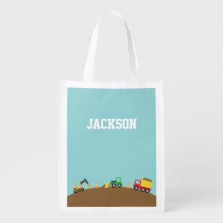 Cute Construction Vehicles For Boys Market Tote