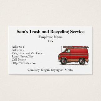 Cute Contractor Van Business Card