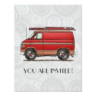 Cute Contractor Van Card