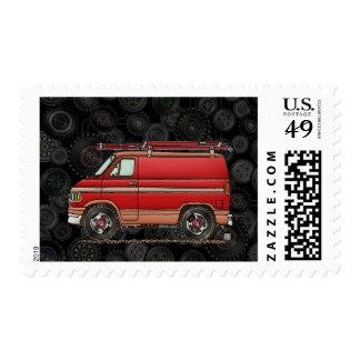 Cute Contractor Van Postage Stamp