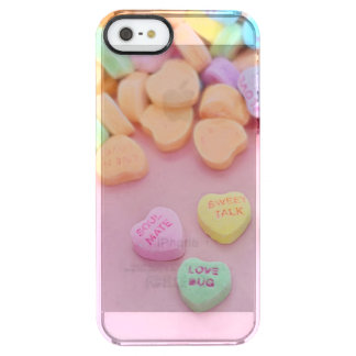 Cute conversation heart hearts candy pastel foodie clear iPhone SE/5/5s case
