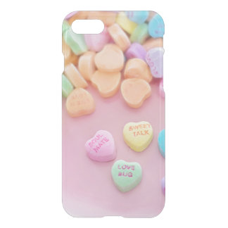 Cute conversation heart hearts candy pastel foodie iPhone 7 case