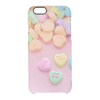Cute conversation heart hearts candy pastel foodie uncommon clearly™ deflector iPhone 6 case