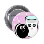 CUTE  COOKIE AND MILK  BFF 2 INCH ROUND BUTTON