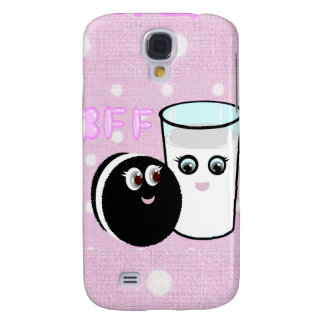 CUTE  COOKIE AND MILK  BFF GALAXY S4 COVER