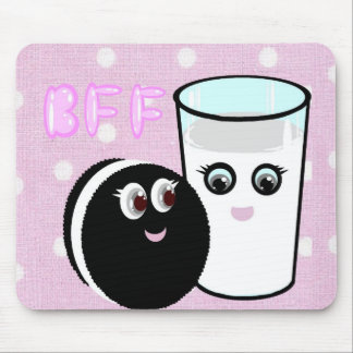 CUTE  COOKIE AND MILK  BFF MOUSE PAD