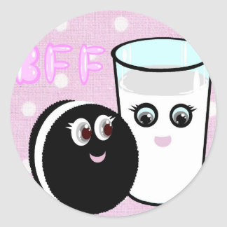 CUTE  COOKIE AND MILK  BFF STICKERS