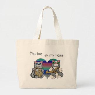 Cute Cookie & Cat Lover's Jumbo Tote Bag