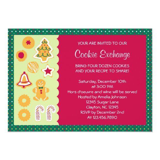Cute Cookie Exchange Invitation