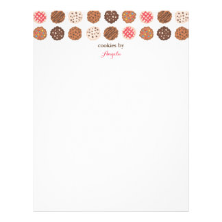 Cute Cookies Cookie Business Bakery Letterhead