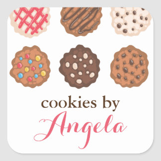 Cute Cookies Cookie Business Bakery Product Label