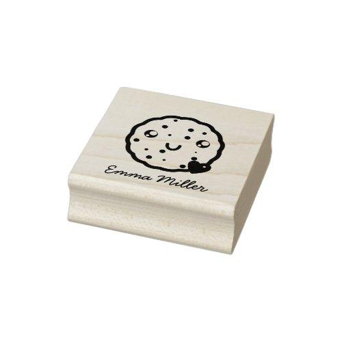 Cute Cookies Custom Name Ink Print Signature Rubber Stamp