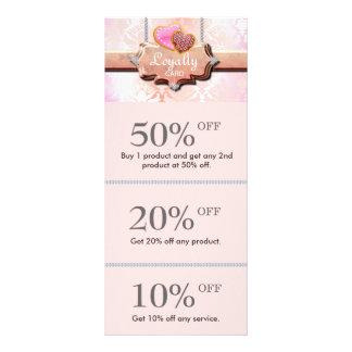 Cute Cookies Discount Loyalty Cards Pink