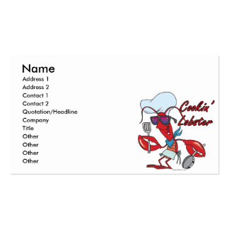 cute cookin cooking lobster cartoon business card