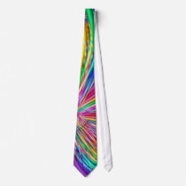 "Cute Cool Abstract Pattern ""Rainbow Swirl"" Neck Tie"