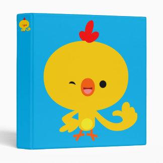 Cute Cool Cartoon Chicken Binder