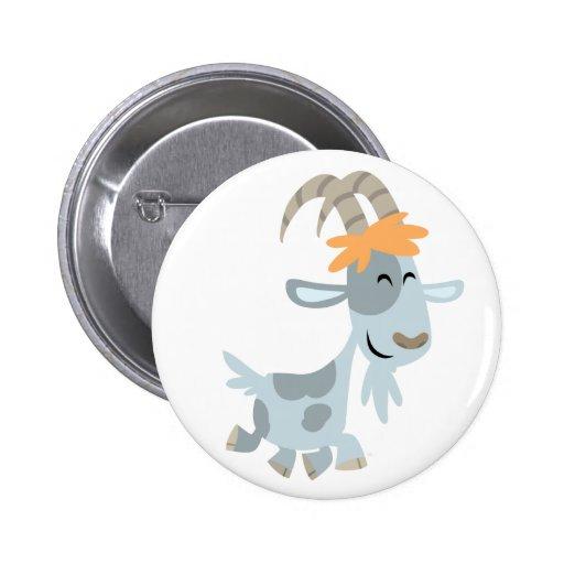 Cute Cool Cartoon  Goat Button Badge