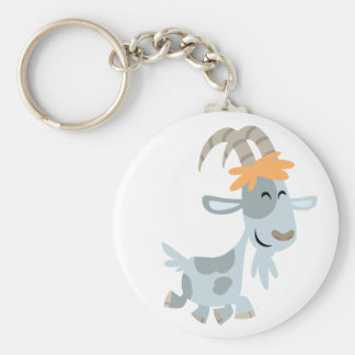 Cute Cool Cartoon  Goat Keychain