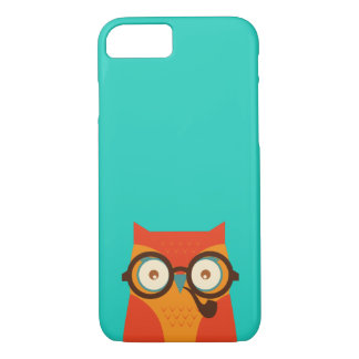Cute Cool Funny Retro Hipster Owl iPhone 7 Case