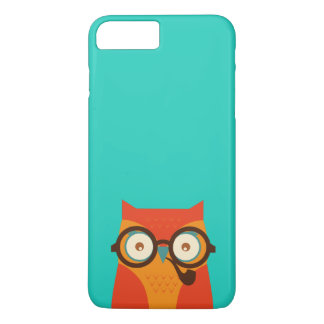 Cute Cool Funny Retro Hipster Owl iPhone 7 Plus Case