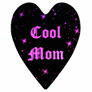 Cute cool mom punk black heart Mothers Day magnet