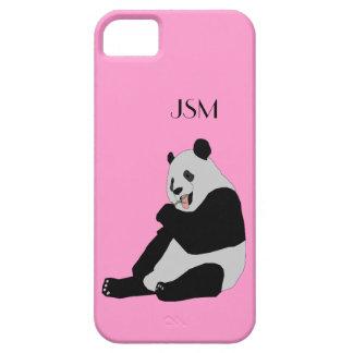 Cute Cool Panda Bear Monogram Custom Color iPhone 5 Cover
