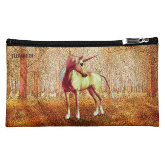 Cute Cool Pink Standing Unicorn Symbol Of Purity Makeup Bag