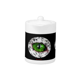 Cute Cool Vintage Girly Eye of Cat Teapot
