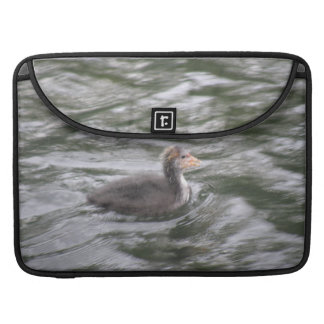 Cute Coot Chick on Choppy Water MacBook Pro Sleeve