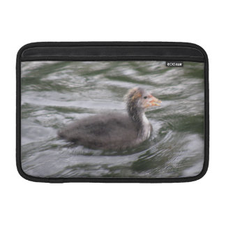 Cute Coot Chick on Choppy Waters Macbook Sleeve