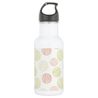 Cute Coral and Green Polka Dots Stainless Steel Water Bottle