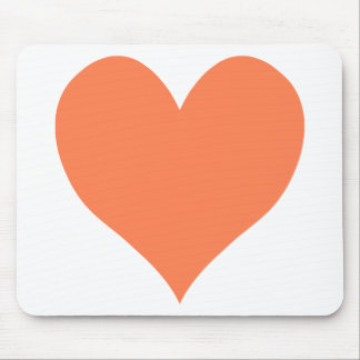 Cute Coral Heart Mouse Pad