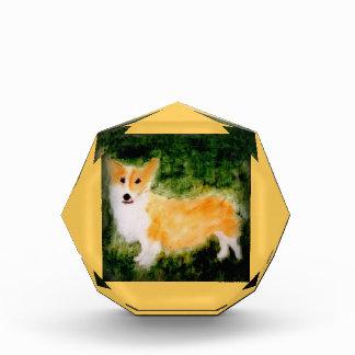 Cute Corgi Dog Art Acrylic Award