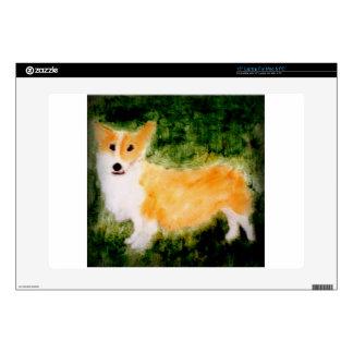 Cute Corgi Dog Art Decal For Laptop