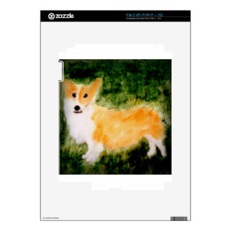 Cute Corgi Dog Art Decal For The iPad 2