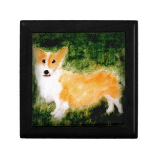 Cute Corgi Dog Art Gift Box