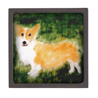 Cute Corgi Dog Art Jewelry Box