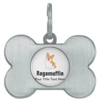 Cute Corgi Drawing - Add Your Own Text Pet ID Tag
