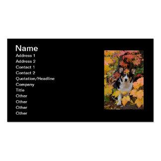 Cute Corgi in Fall Colors Business Card
