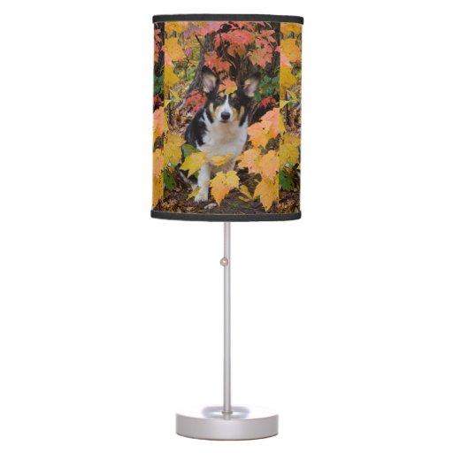 Cute Corgi in Fall Colors Lamp