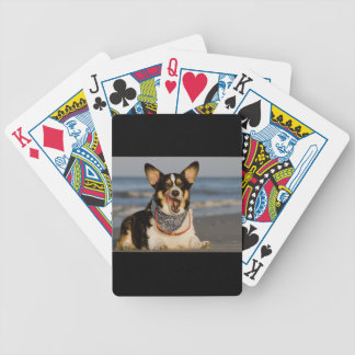 Cute Corgi Licking his Chops Bicycle Playing Cards